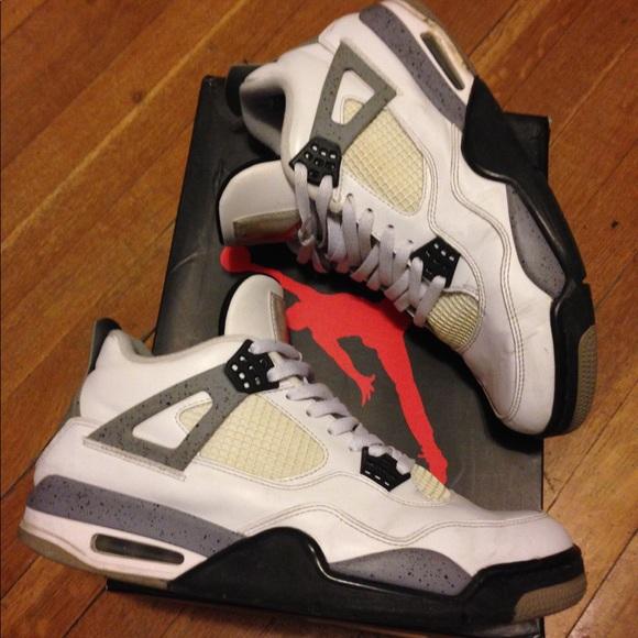 Air Jordan Retro 4 Cement White